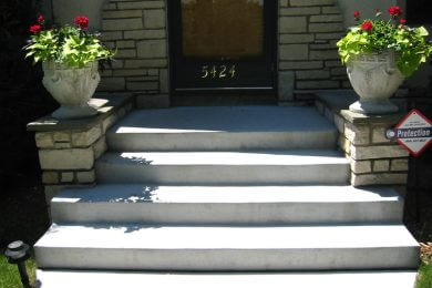 ENTRANCE AND TERRACE STEPS
